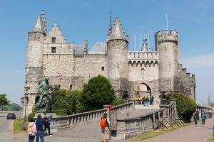 Het Steen, a Medieval Fortress in Antwerp, Belgium, Europe by Carlo Morucchio