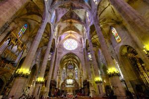 La Seu, the Cathedral of Santa Maria of Palma, Majorca, Balearic Islands, Spain, Europe by Carlo Morucchio