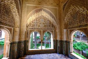 Mirador De Daraxa O Lindaraja, Palacio De Los Leones, the Alhambra, Granada, Andalucia, Spain by Carlo Morucchio