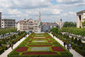 Mont Des Arts Garden, Brussels, Belgium, Europe by Carlo Morucchio