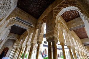 Palacios Nazaries, the Alhambra, Granada, Andalucia, Spain by Carlo Morucchio