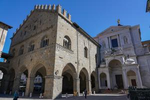 Piazza Duomo, Palazzo della Ragione and Bergamo Cathedral, Bergamo, Lombardy, Italy by Carlo Morucchio
