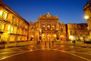 Piazza Vincenzo Bellini and Teatro Massimo Bellini Opera House, Catania, Sicily, Italy, Europe by Carlo Morucchio