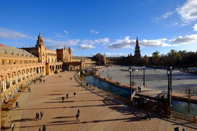 Plaza De Espana, Built for the Ibero-American Exposition of 1929, Seville, Andalucia, Spain