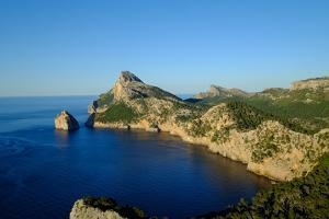 Punta Nau seen from el Mirador Es Colomer in the Formentor Peninsula, Majorca, Balearic Islands, Sp by Carlo Morucchio
