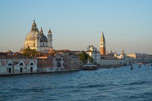 Salute Church, Doge's Palace, St. Mark's tower and basin, Venice Lagoon, Venice, Italy by Carlo Morucchio