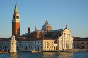 San Giorgio Basilica and island seen from the ferry, Venice Lagoon, Venice, Italy by Carlo Morucchio