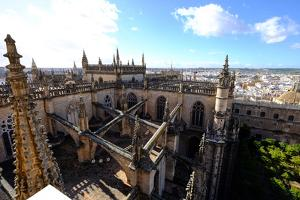 Seville Cathedral Seen from Giralda Bell Tower, Seville, Andalucia, Spain by Carlo Morucchio