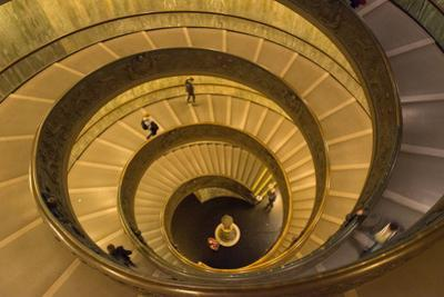 Spiral Stairs of the Vatican Museums, Designed by Giuseppe Momo in 1932, Rome, Lazio, Italy, Europe