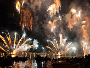 The Amazing Fireworks Display During the Night of Redentore Celebration in the Basin of St. Mark, V by Carlo Morucchio