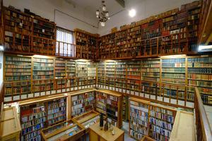 The ancient library Monastery of Santa Maria de la Real, Majorca, Balearic Islands, Spain, Europe by Carlo Morucchio