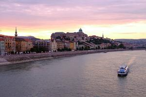 The Danube River and Buda Castle, Budapest, Hungary, Europe by Carlo Morucchio
