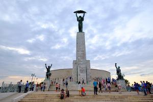 The Liberty Statue, a Monument on the Gellert Hill, Budapest, Hungary, Europe by Carlo Morucchio