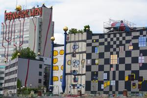 The waste incineration plant of Spittelau designed by Friedensreich Hundertwasser, Vienna, Austria by Carlo Morucchio