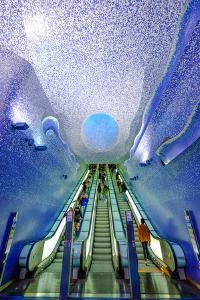 Toledo Art Station of Naples Metro, Naples, Campania, Italy, Europe by Carlo Morucchio