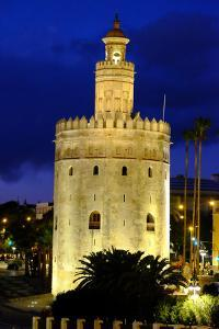 Torre Del Oro (Gold Tower), Museo Naval, Seville, Andalucia, Spain by Carlo Morucchio