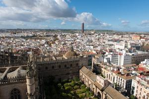 View of Seville from Giralda Bell Tower, Seville, Andalucia, Spain by Carlo Morucchio