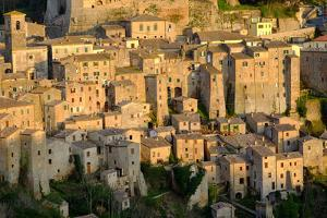 View of Sorano Seen from Etruscan Rock Settlement of San Rocco, Maremma, Grosseto, Tuscany, Italy by Carlo Morucchio