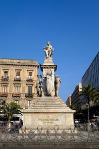 Vincenzo Bellini monument, Piazza Stesicoro, Catania, Sicily, Italy, Europe by Carlo Morucchio