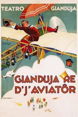 Gianduja Re D'J'Aviator Poster by Carlo Nicco