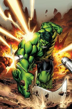 Incredible Hulks No.615 Cover: Hulk Smashing by Carlo Pagulayan