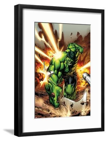 Incredible Hulks No.615 Cover: Hulk Smashing