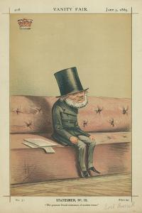 Earl of Russell, the Greatest Liberal Statesmen of Modern Times, 5 June 1869, Vanity Fair Cartoon by Carlo Pellegrini