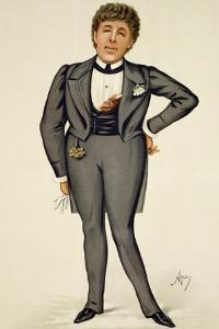Oscar Wilde (1854-1900) Cartoon from 'Vanity Fair', 1884 by Carlo Pellegrini