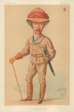 Sir Garnet J Wolseley, the Man Who Won't Stop, 18 April 1874, Vanity Fair Cartoon