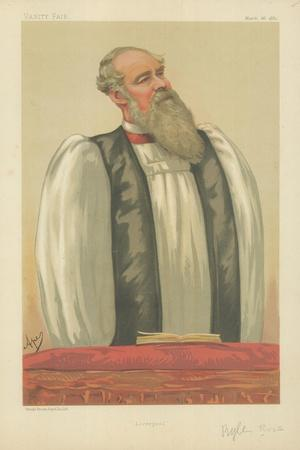 The Right Rev John Charles Ryle, Bishop of Liverpool, Liverpool, 26 March 1881, Vanity Fair Cartoon