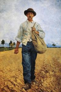 The Seed Sower, 1881 by Carlo Pollonera