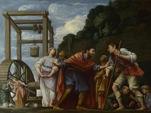 Moses Defending the Daughters of Jethro, 1610 by Carlo Saraceni