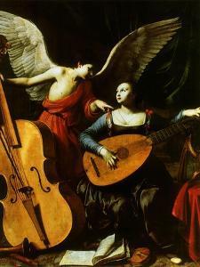 Saint Cecilia and the Angel, 1600 by Carlo Saraceni