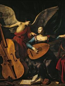 St Cecilia and the Angel by Carlo Saraceni