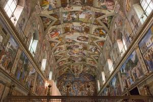The Sistine Chapel by Michelangelo in the Vatican Museums, Rome, Lazio, Italy, Europe by Carlo