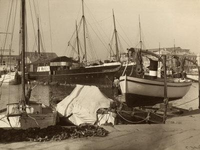 Boats Moored at the Harbor in Trieste
