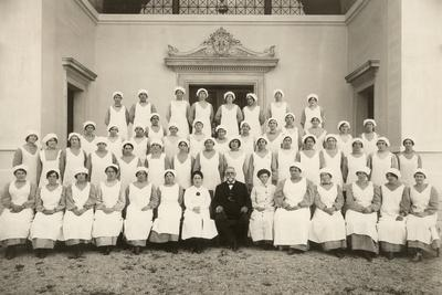 Group Photo of a Psychiatric Nurse During the First World War