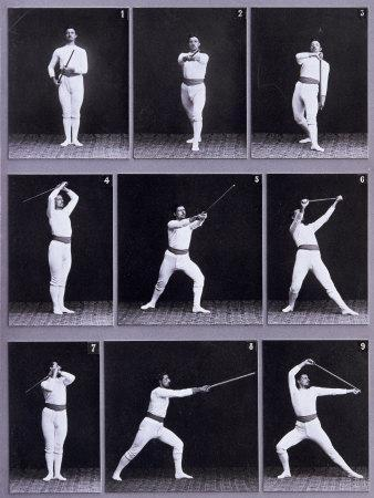 Jager Exercises, a Succession of Physical Exercises Using a Staff