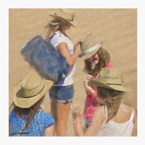 Girls on the Beach by Carlos Casamayor