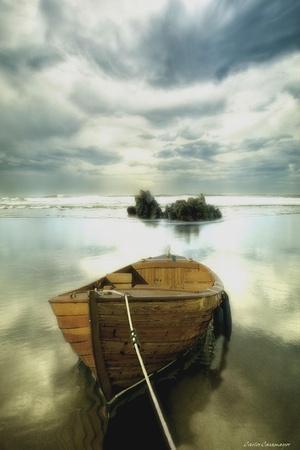 COASTAL ART PRINT The Solitude of the Sea by Carlos Casamayor BOAT Poster 19x13