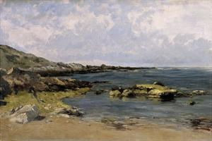 Low Tide (Guethary), Ca. 1881 by Carlos de Haes
