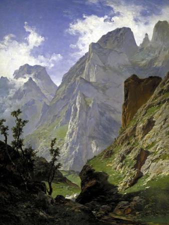 Mancorbo Canal In Picos De Europa, 1876, Spanish School by Carlos De haes