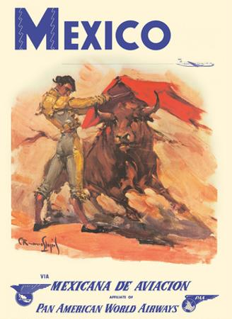 Mexico - via Mexicana de Aviaci?n - Pan American World Airways - Bull Fighter