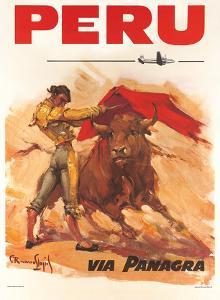 Panagra Pan American-Grace Airways: Peru, c.1946 by Carlos Ruano-Llopis