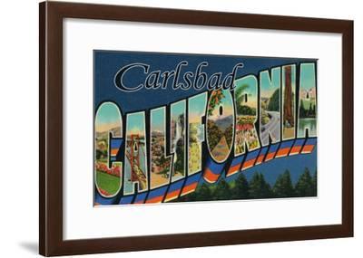 Carlsbad, California - Large Letter Scenes-Lantern Press-Framed Art Print