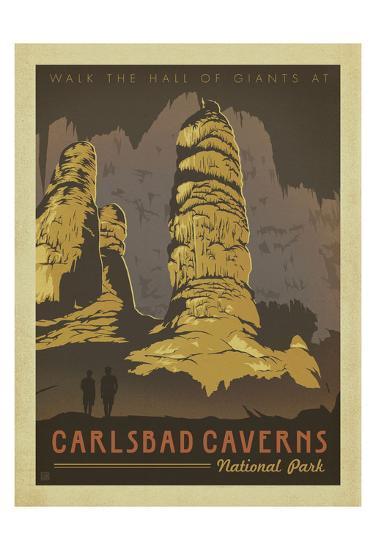 Carlsbad Caverns National Park-Anderson Design Group-Art Print