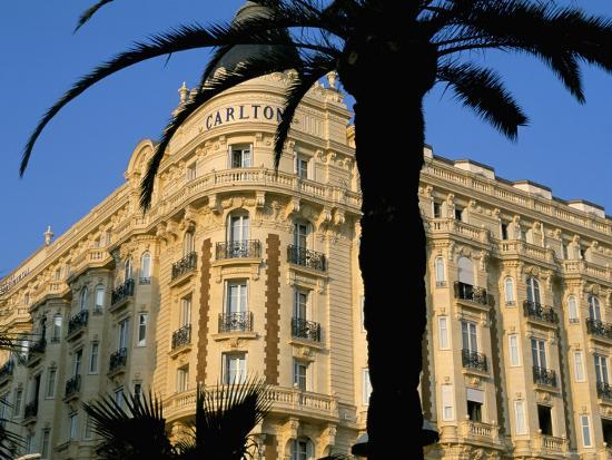 Carlton Hotel, Boulevard De La Croisette, Cannes, Alpes-Maritimes, French Riviera, Provence, France-Bruno Barbier-Photographic Print