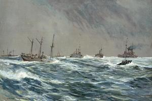 United States War-Ships in a Blow-Squally Weather Off the Cuban Coast by Carlton T. Chapman