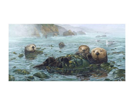 Carmel Coast Otters-John Dawson-Art Print