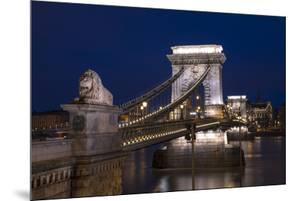 The Chain Bridge at the blue hour, Budapest, Hungary, Europe by Carmen Merino